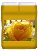 Yellow Valentine Roses - 4 Duvet Cover