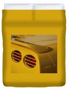 Yellow Vette Lights Duvet Cover
