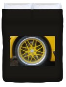 Yellow Vette Wheel Duvet Cover