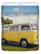 Yellow Vw T2 Camper Van 02 Duvet Cover