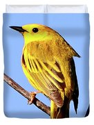 Yellow Warbler #2 Duvet Cover
