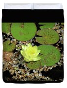 Yellow Water Lily Duvet Cover