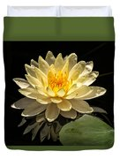 Yellow Waterlily Duvet Cover