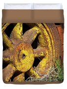 Yellow Wheel Duvet Cover