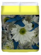 Yellow, White And Blue Duvet Cover