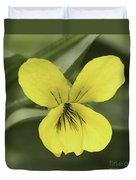 Yellow Wild Violet Duvet Cover