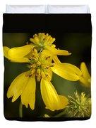 Yellow Wingstem Duvet Cover