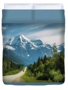 Yellowhead Highway In Mt. Robson Provincial Park, Canada Duvet Cover