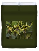 Yellowish Orchids Duvet Cover