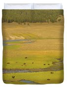 Yellowstone Bison 2 Duvet Cover