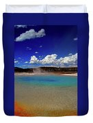 Yellowstone Blues Duvet Cover