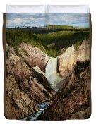 Yellowstone Falls  Duvet Cover