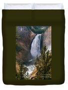 Yellowstone Grand Canyon Falls Duvet Cover