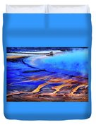 Yellowstone Grand Prismatic Spring Geothermal Water Duvet Cover
