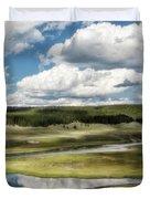 Yellowstone Hayden Valley National Park Wall Decor Duvet Cover by Gigi Ebert