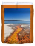 Yellowstone Lake And West Thumb Geyser Flow Duvet Cover