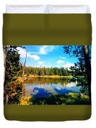Yellowstone Lake In Summer Duvet Cover