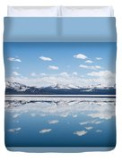 Yellowstone Lake Reflection Duvet Cover