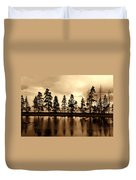 Yellowstone Lake Duvet Cover
