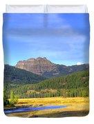 Yellowstone National Park Landscape Duvet Cover