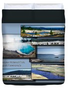 Yellowstone Park August Panoramas Collage Duvet Cover