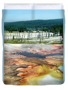 Yellowstone Park Firehole Spring Area Vertical 02 Duvet Cover