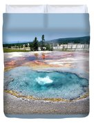 Yellowstone Park Firehole Spring In August 02 Duvet Cover