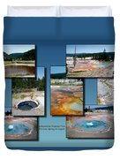 Yellowstone Park Firehole Spring In August Collage Duvet Cover