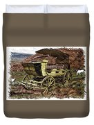 Yellowstone Park Stage Coach With Horses Pa 01 Duvet Cover