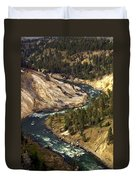 Yellowstone River Canyon Duvet Cover