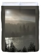 Yellowstone River Fog Duvet Cover by Sandra Bronstein