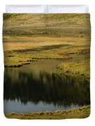 Yellowstone River Pond Duvet Cover