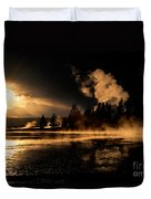 Yellowstone River Sunrise Duvet Cover