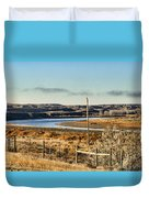 Yellowstone River View Duvet Cover