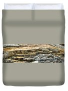 Yellowstone Rock Formation Duvet Cover