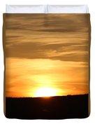 Yellowstone Sunset Duvet Cover