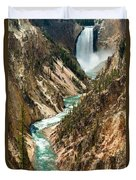 Yellowstone Waterfalls Duvet Cover
