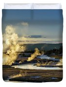 Yellowstone's Midway Geyser Basin  Duvet Cover