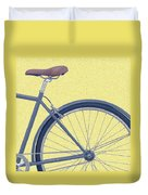 Yelow Bike Duvet Cover