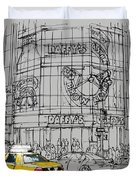 Yelow Cab On New York Streets Duvet Cover
