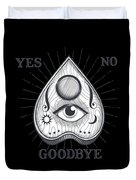Yes No Goodbye Magic Ouija Vintage Planchette Design Duvet Cover
