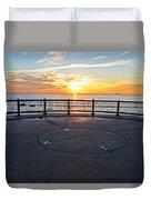 Yes, The Sun Rises To The East Red Rock Park Lynn Shore Drive Duvet Cover