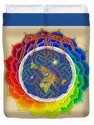 Yhwh Covers Earth Duvet Cover