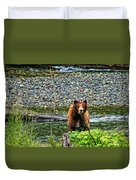 Yikes, It's A Grizzly Duvet Cover
