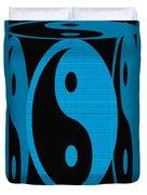 Yin Yang Blue Mosaic Duvet Cover