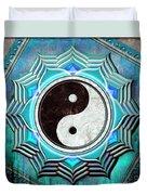 Yin Yang -  The Healing Of The Blue Chakra Duvet Cover