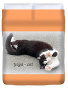 Yoga - Cat Duvet Cover