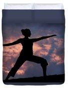 Yoga Sunset Duvet Cover