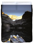 Yoho National Park, Lake Ohara, British Duvet Cover by Ron Watts