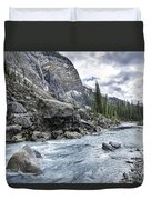 Yoho River At Takakkaw Falls Duvet Cover